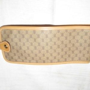 Gucci Brown Small G Logo Coated Canvas